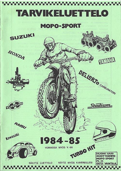 Mopo Sport tarvikeluettelo 1984-85